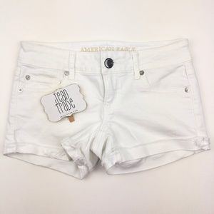 American Eagle Super Low Shortie Jean Shorts
